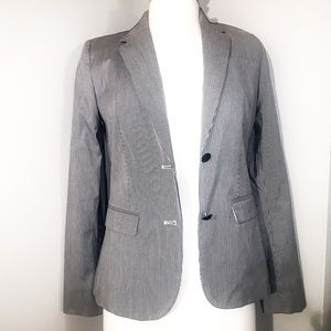 Tommy Hilfiger White and Navy Pinstripe Blazer